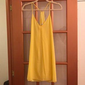 Yellow Alice and Olivia Racerback dress
